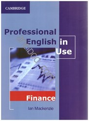 تصویر  professional english in use: finance