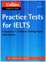 تصویر  practice tests for lelts+cd)collins)